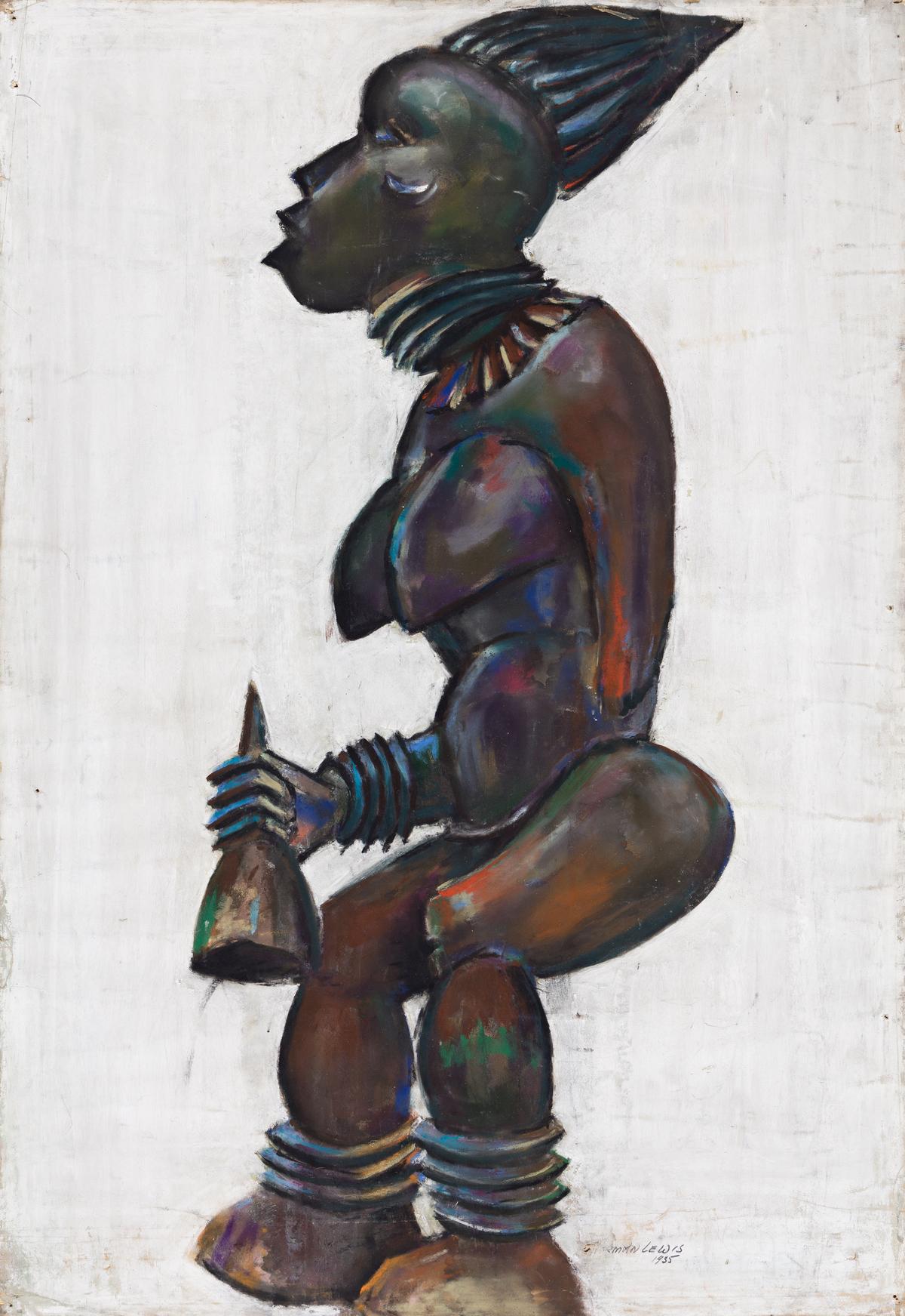 NORMAN LEWIS (1917 - 1979) Untitled (Bangwa Queen).