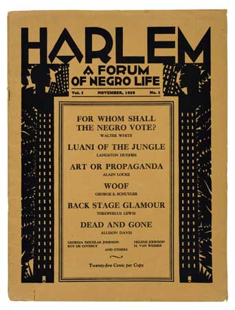 (LITERATURE AND POETRY.) THURMAN, WALLACE, Editor. Harlem; a Forum of Negro Life.
