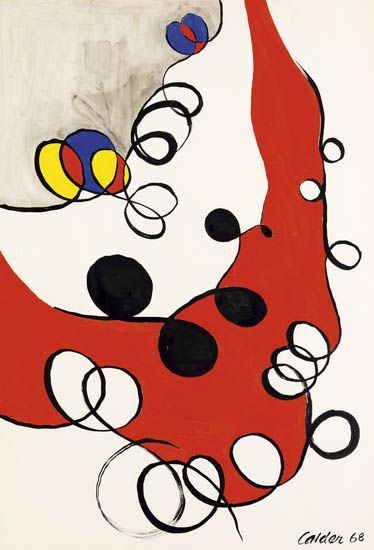 ALEXANDER-CALDER-Loops-on-Gray-and-Red