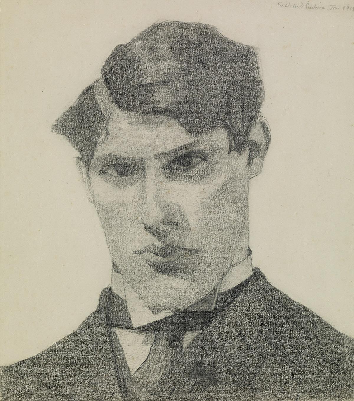RICHARD-CARLINE-(Oxford-1896-1980-London)-Portrait-of-a-Youn