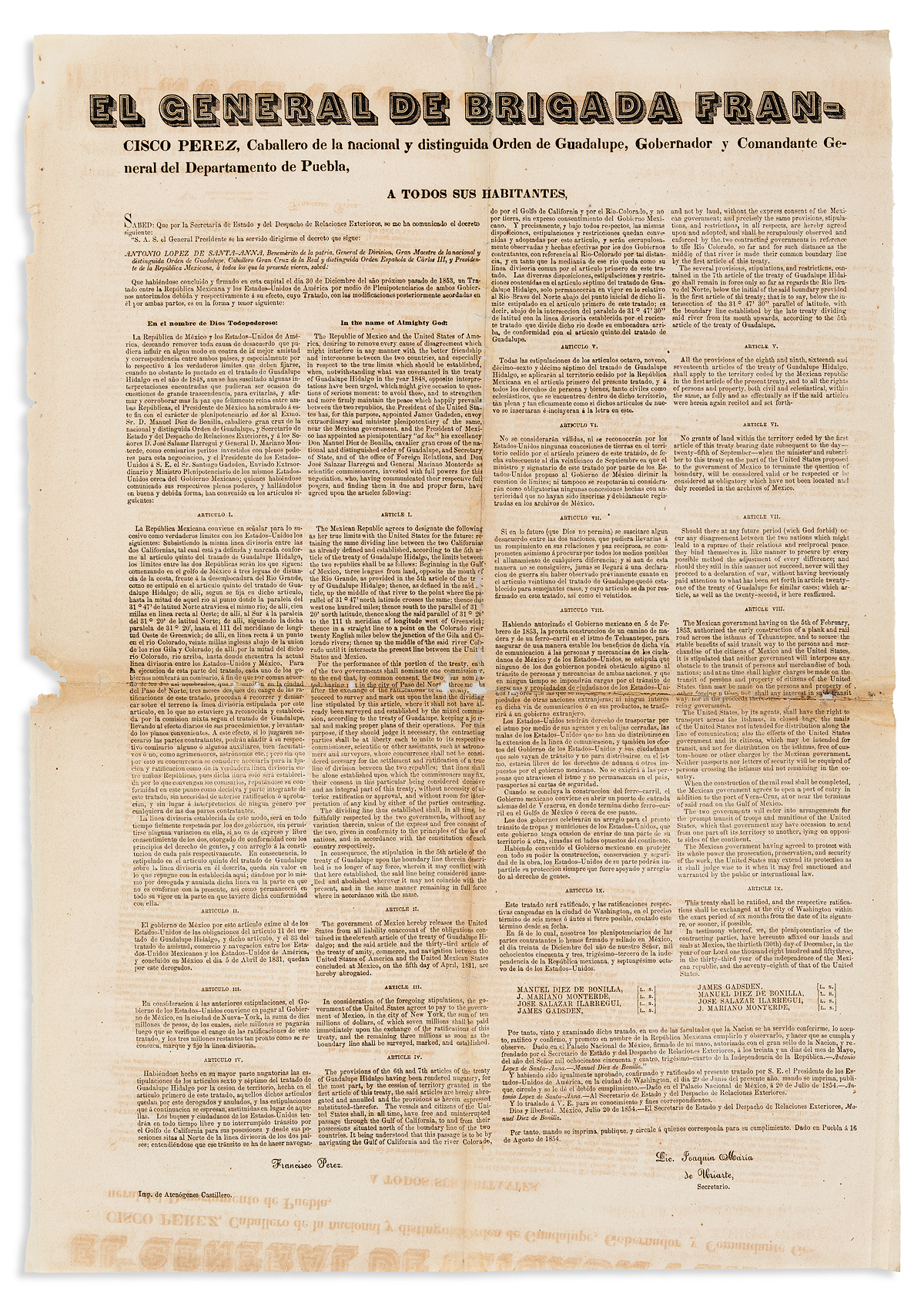 (WEST)-Early-Mexican-printing-of-the-Treaty-of-Mesilla-which