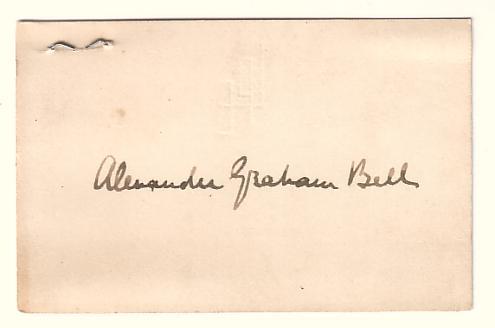 BELL-ALEXANDER-GRAHAM-Signature