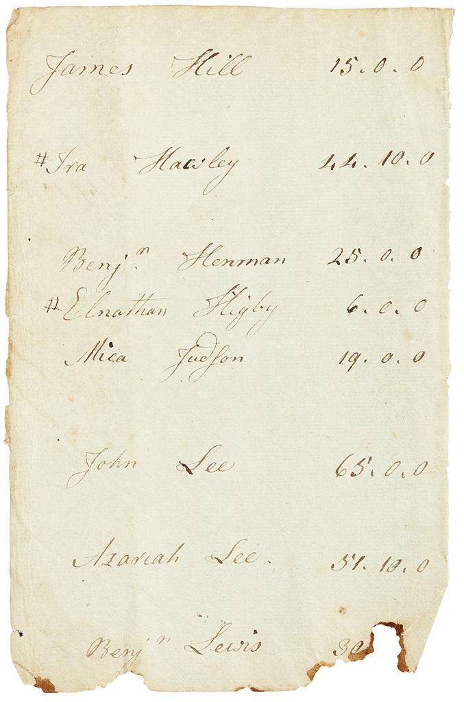 ALLEN-ETHAN-Autograph-Manuscript-unsigned-a-leaf-from-his-ac