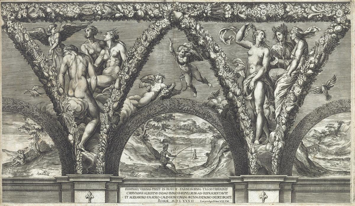 CHERUBINO-ALBERTI-(after-Michelangelo)-Group-of-4-engravings