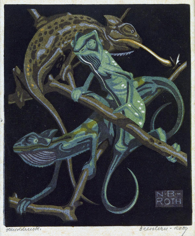 NORBERTINE BRESSLERN-ROTH Chameleons.