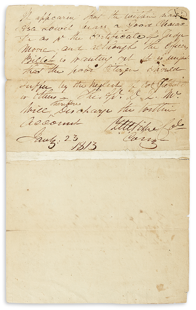 PIKE-ZEBULON-MONTGOMERY-Autograph-Endorsement-dated-and-Sign