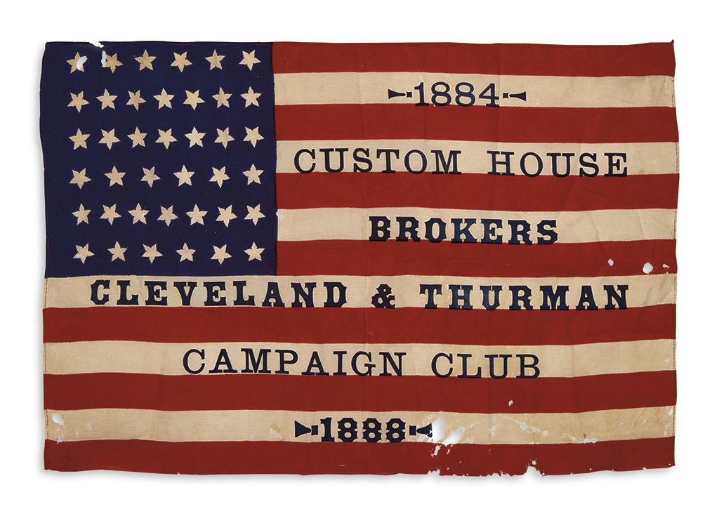 (PRESIDENTS--1888 CAMPAIGN.) 1884 Custom House Brokers Cleveland & Thurman Campaign Club 1888.