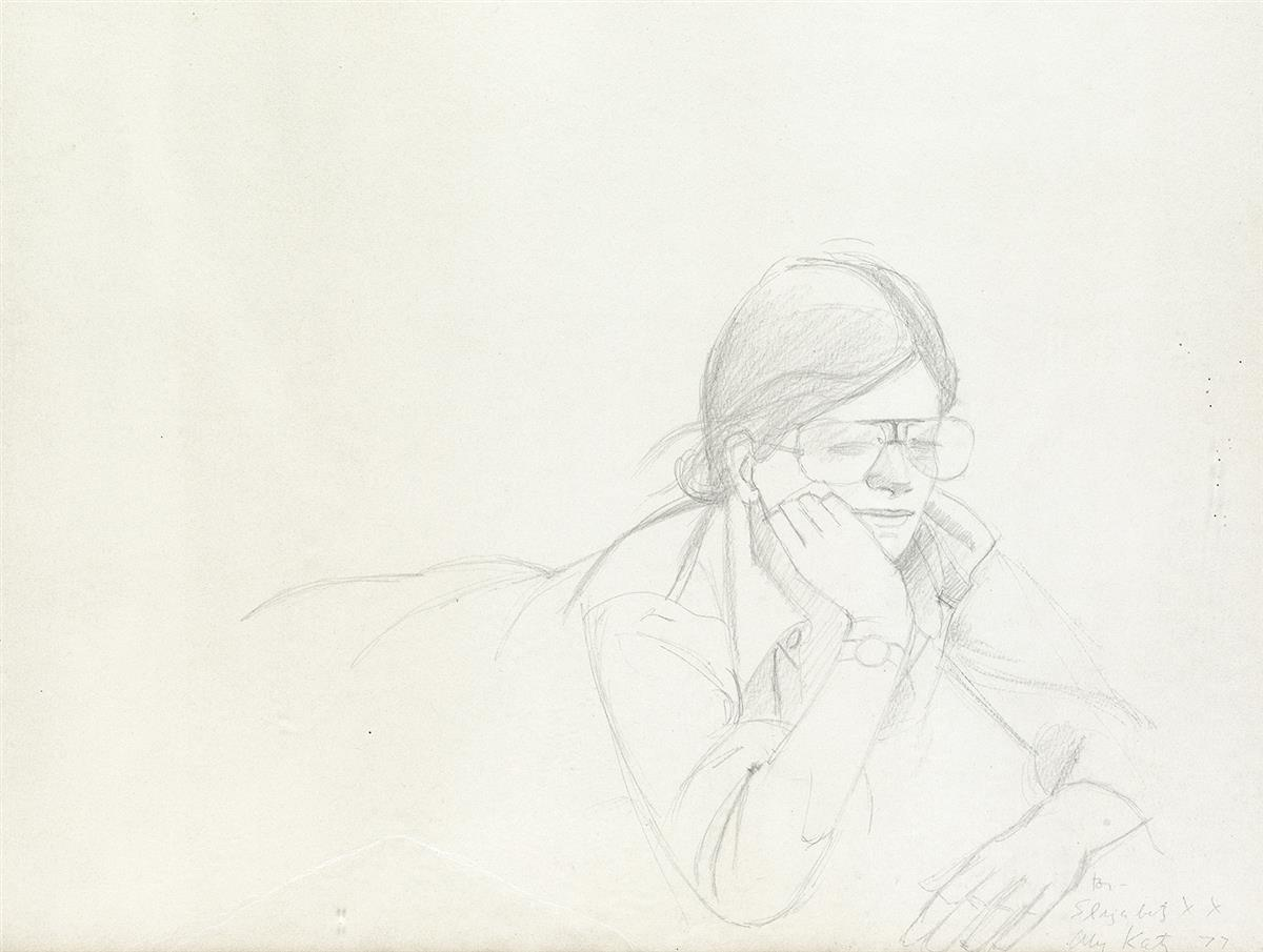 ALEX-KATZ-Study-for-Round-Hill-(Portrait-of-Elizabeth)