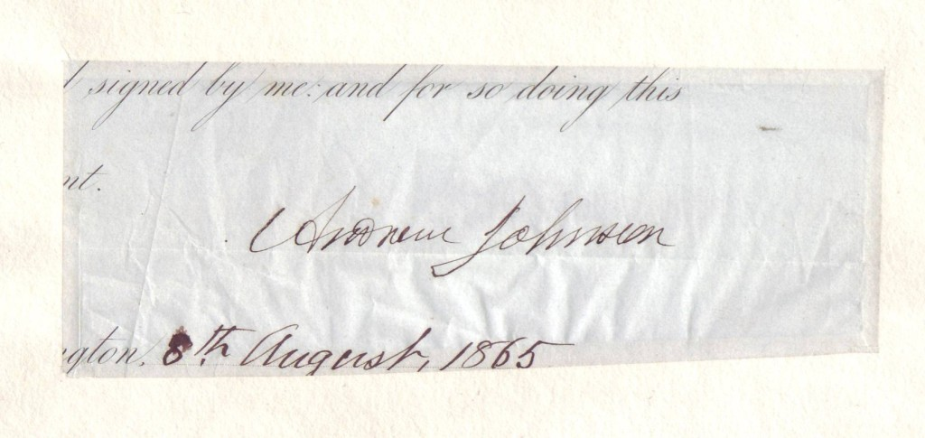 JOHNSON-ANDREW-Signature-as-President-on-a-clipped-portion-o