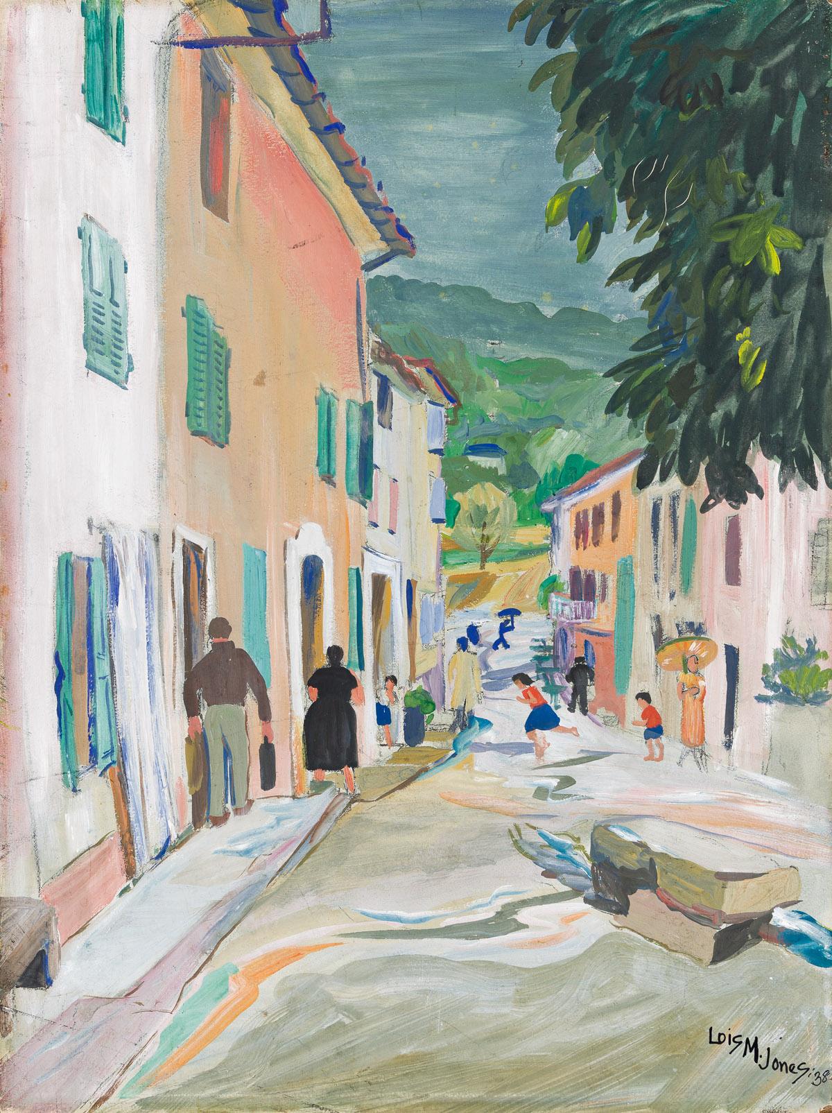 LOÏS MAILOU JONES (1905 - 1998) Untitled (Street Scene in Cabris).