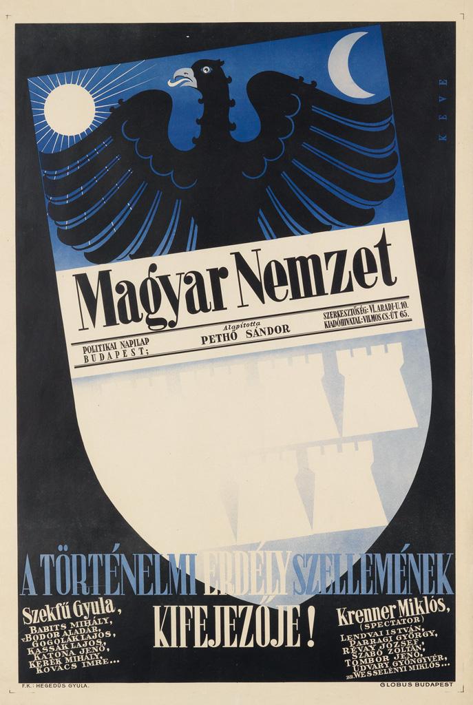KEVE-(DESIGNER-UNKNOWN)-MAGYAR-NEMZET-1940-38x26-inches-98x66-cm-Globus-Budapest