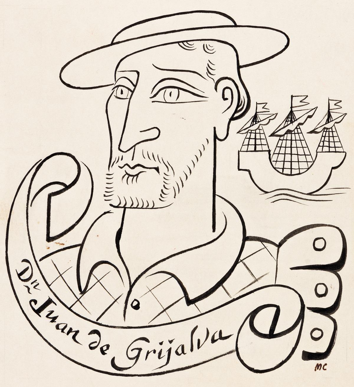 MIGUEL COVARRUBIAS (1904-1957) Juan de Grijalva. [MEXICO / EXPLORERS]