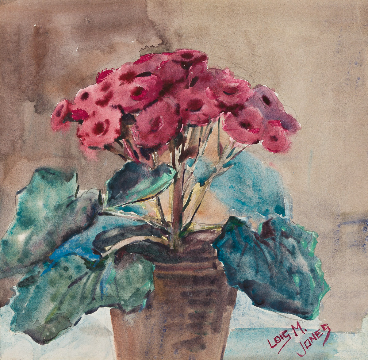 LOÏS MAILOU JONES (1905 - 1998) Untitled (Geraniums).