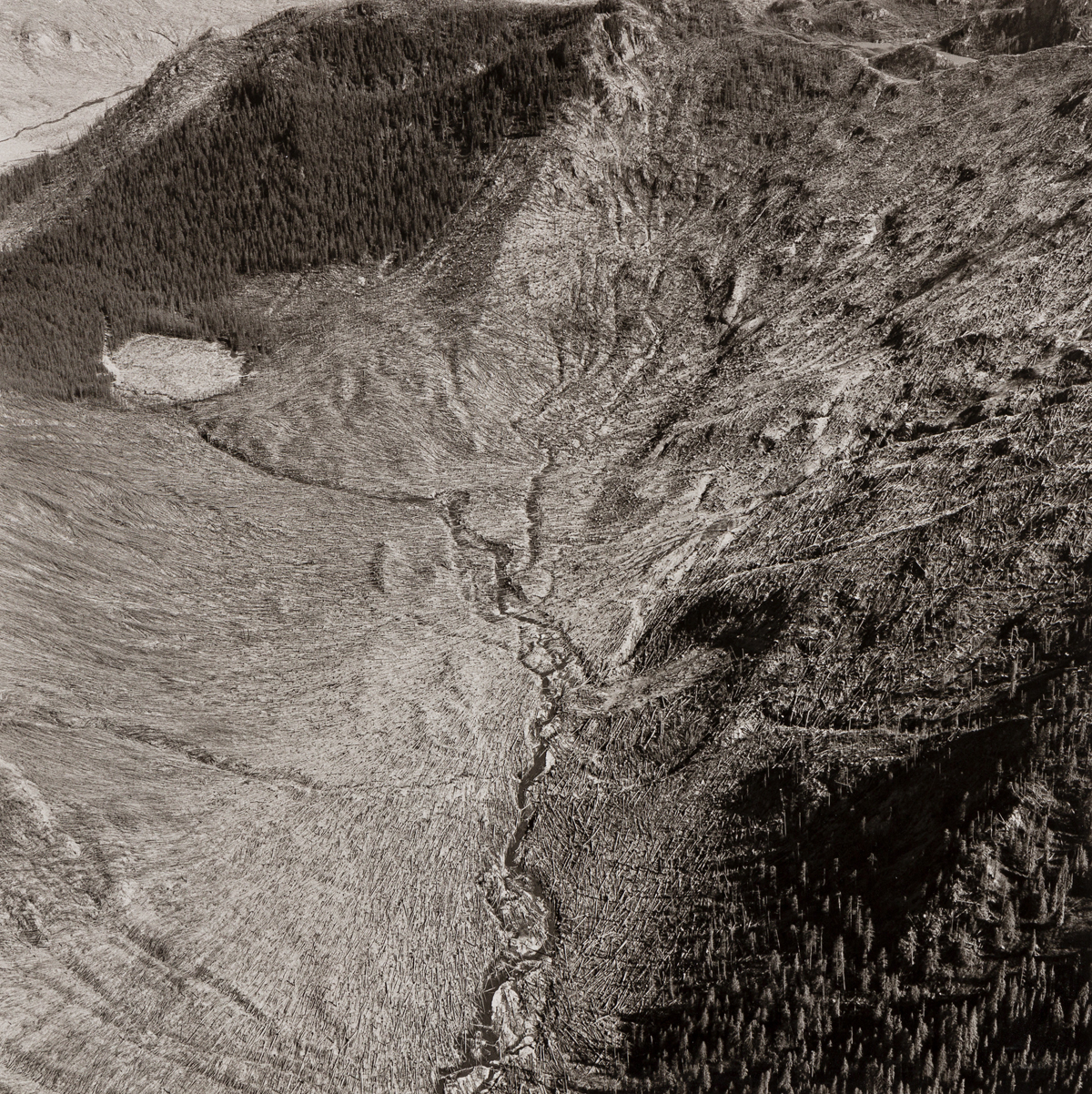 EMMET GOWIN (1941- ) A trio of photographs from Mount Saint Helens series.