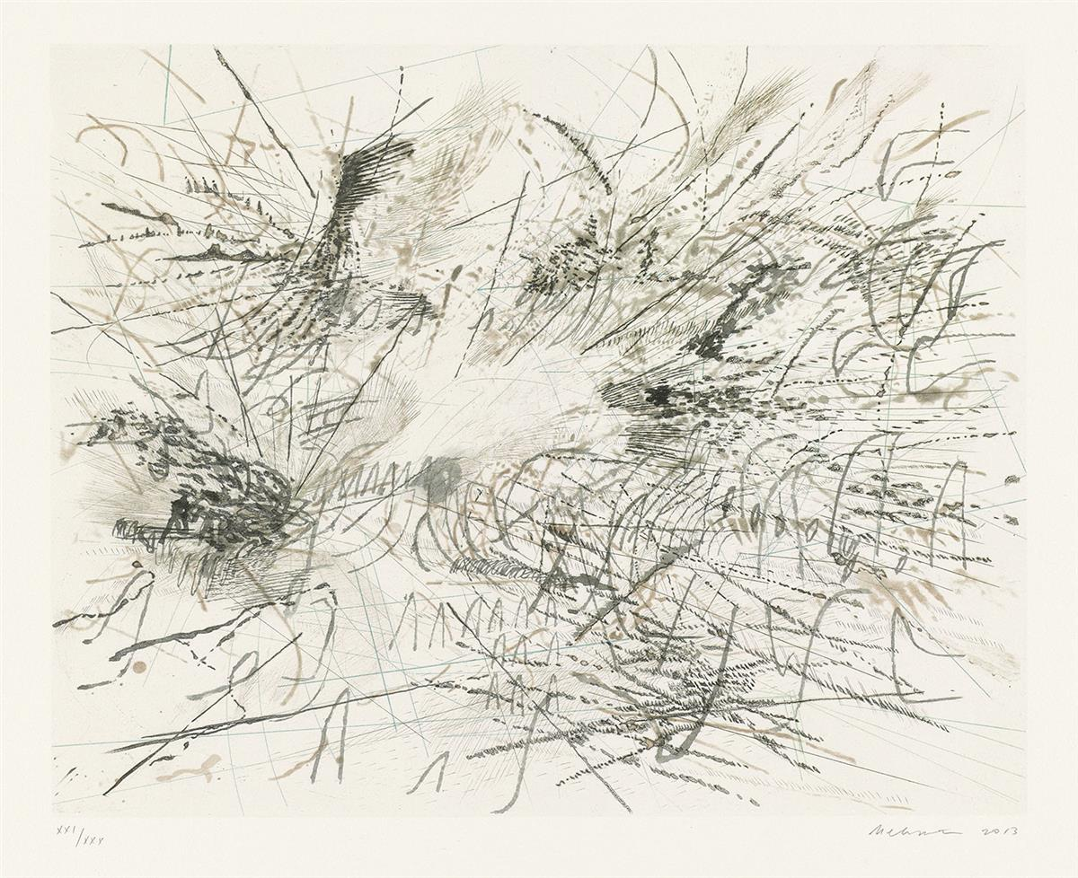 JULIE MEHRETU Untitled (Pulse).