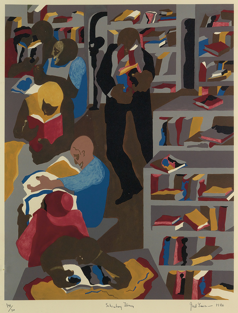 JACOB LAWRENCE (1917 - 2000) Schomburg Library.