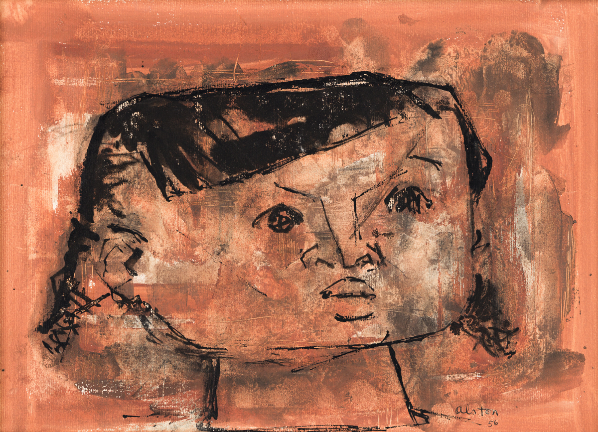 CHARLES ALSTON (1907 - 1977) Untitled (Head of a Girl).