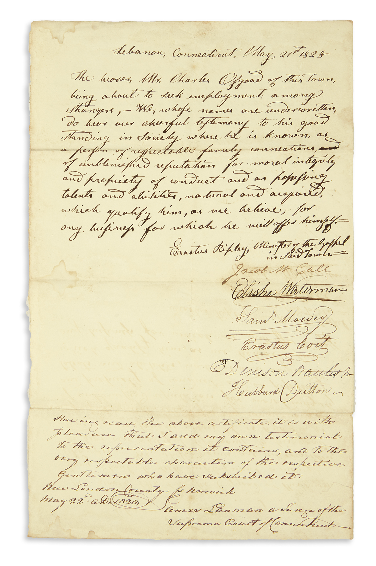 (MEDICINE.) Large archive of pioneer Michigan doctor and speculator Charles Osgood.