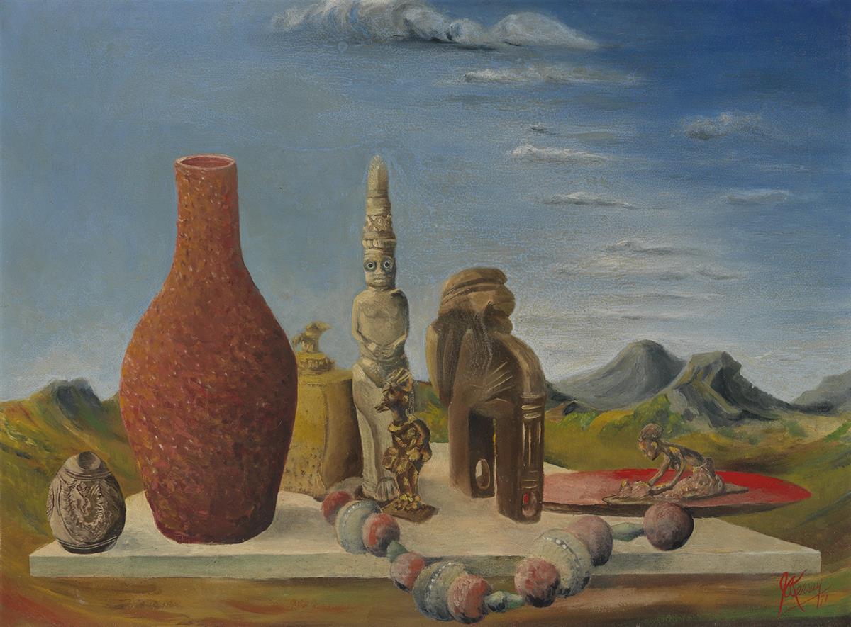 JOSEPH A. KERSEY (1909 - 1982) Three Witch Doctors Bedes (Benin).