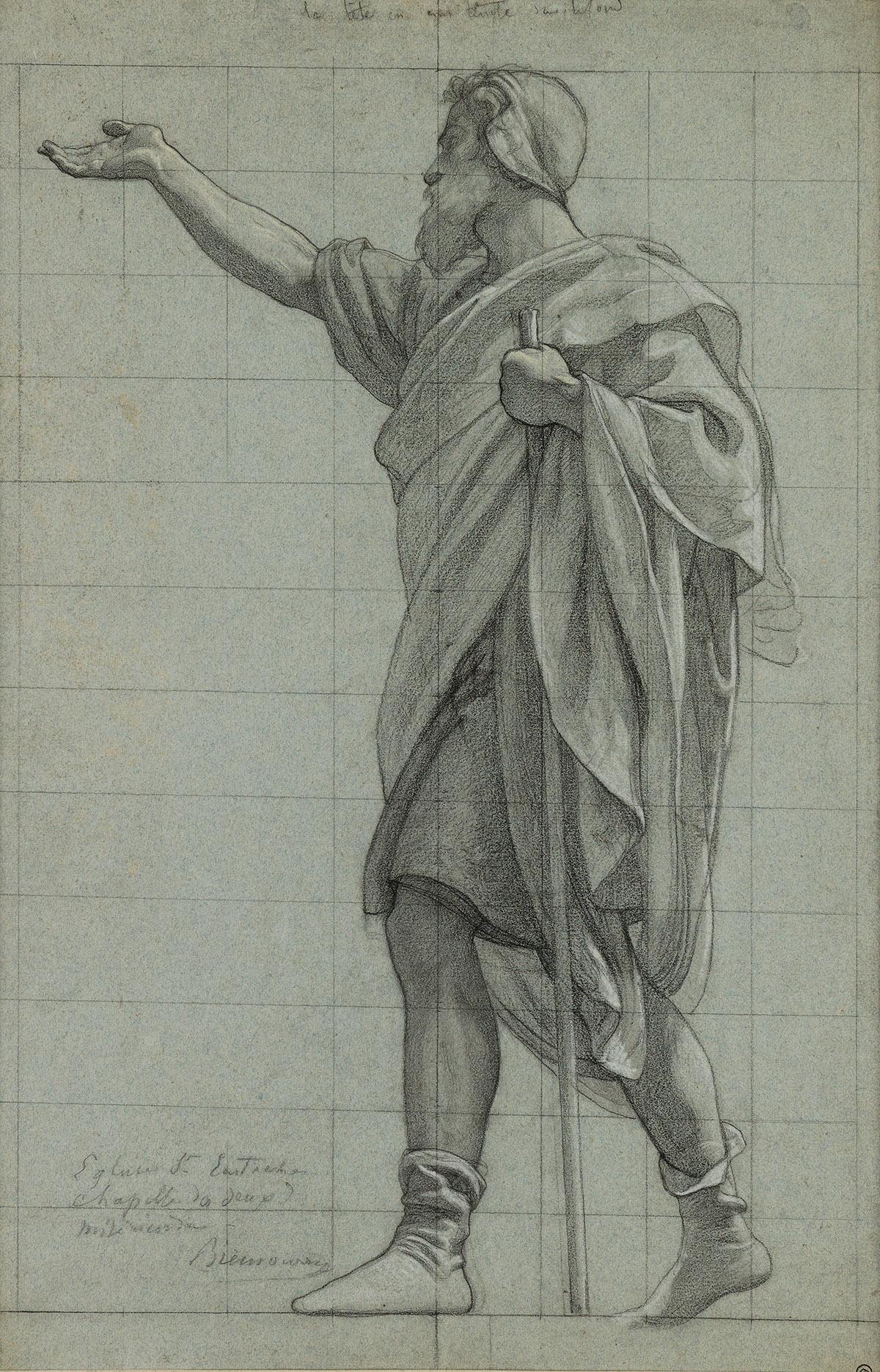 VICTOR-FRANÇOIS-ELOI-BIENNOURRY-(Bar-sur-Aubé-1823-1893-Paris)-A-Standing-Man-Facing-Left-his-Right-Arm-Outstretched-his-Left-Hand-Ho