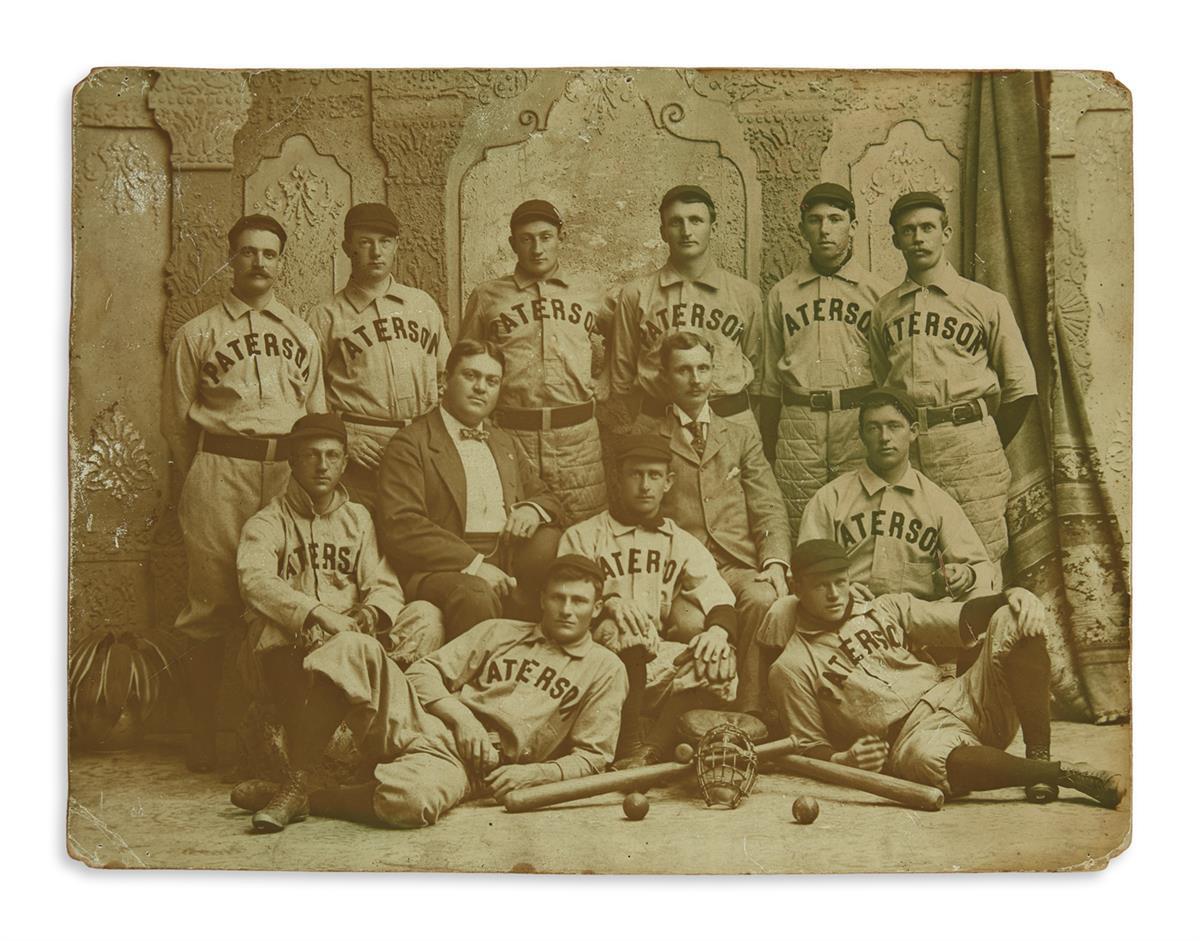 (SPORTS--BASEBALL.) Honus Wagner on the Paterson baseball team.