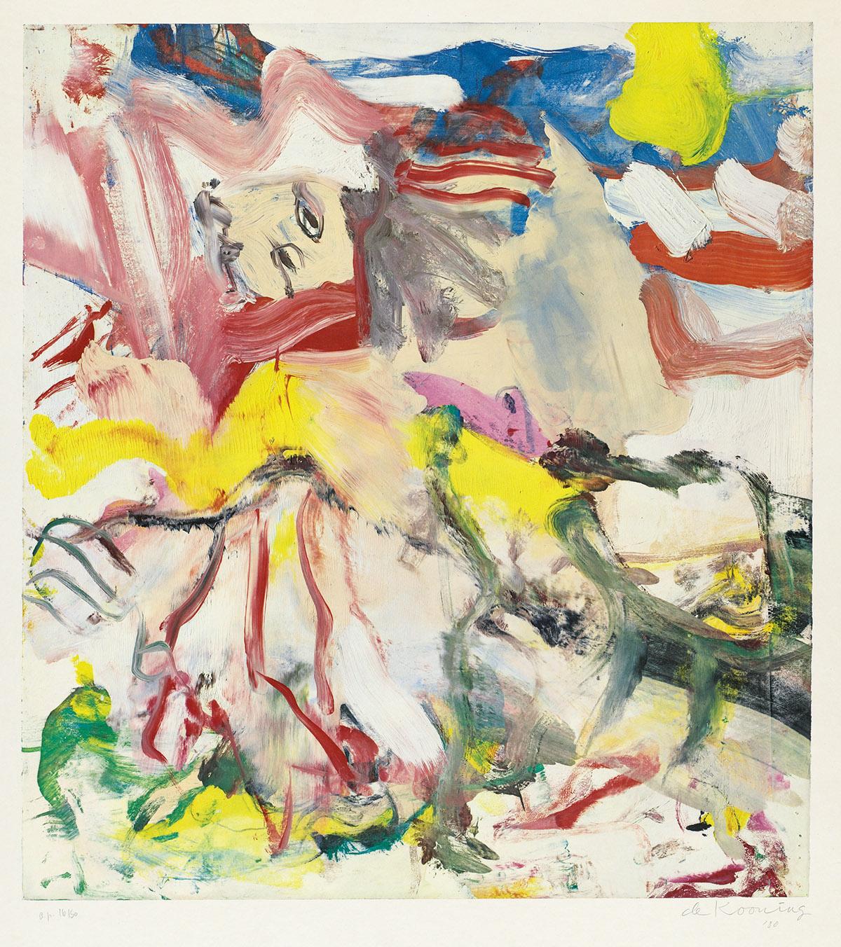 WILLEM DE KOONING Figures in Landscape #6.