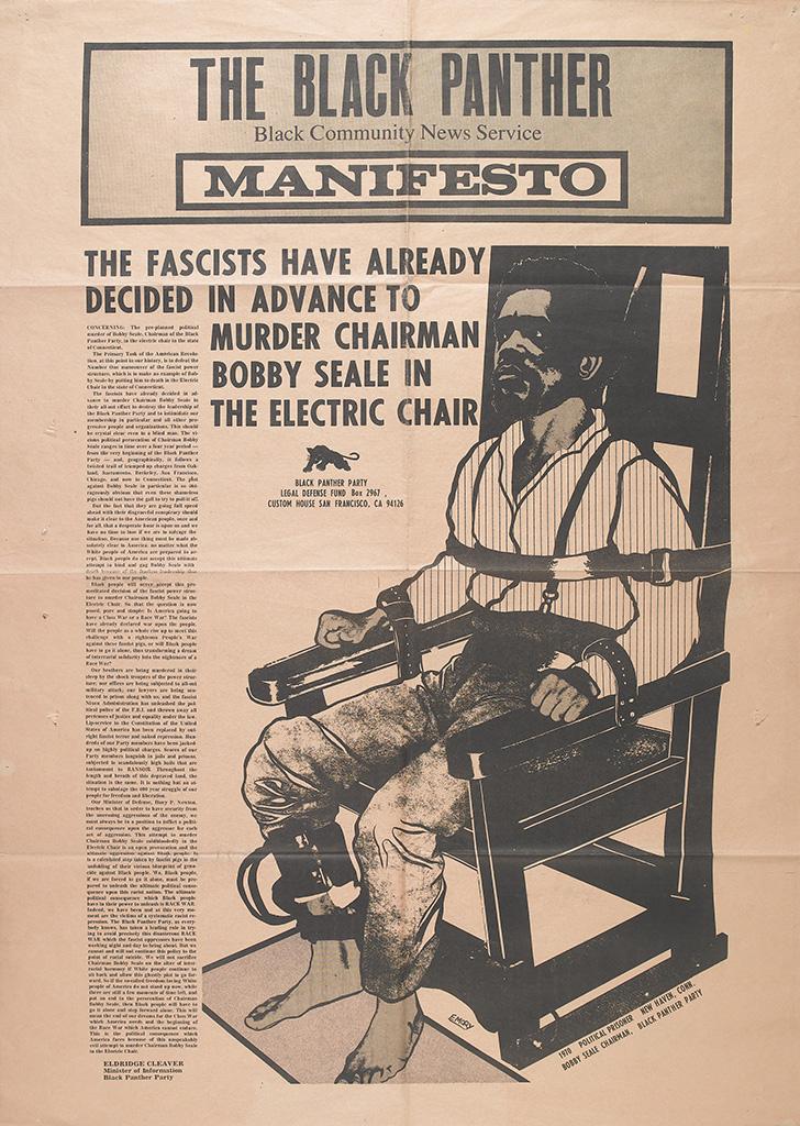 (BLACK PANTHERS.) SEALE, BOBBY. The Black Panther Manifesto.