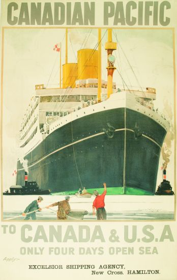 (CANADIAN PACIFIC LINE.) Canadian Pacific to Canada & U.S.A. Only Four Days at Sea.