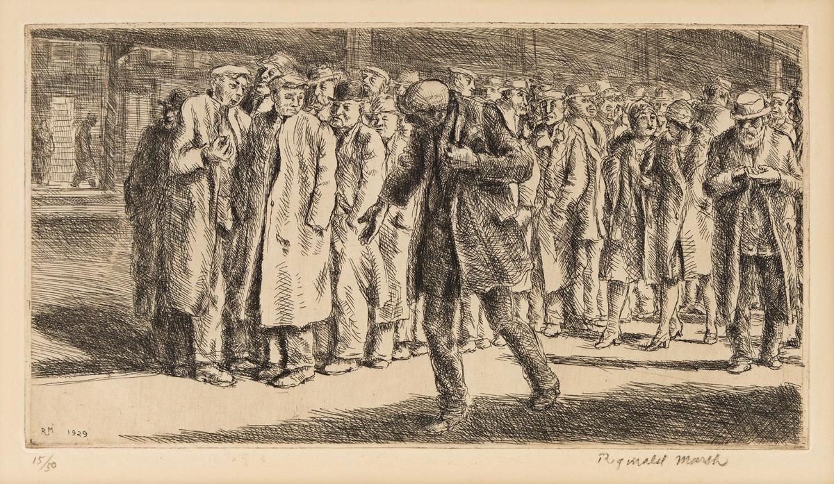 REGINALD MARSH (1898-1954) Bread Line.