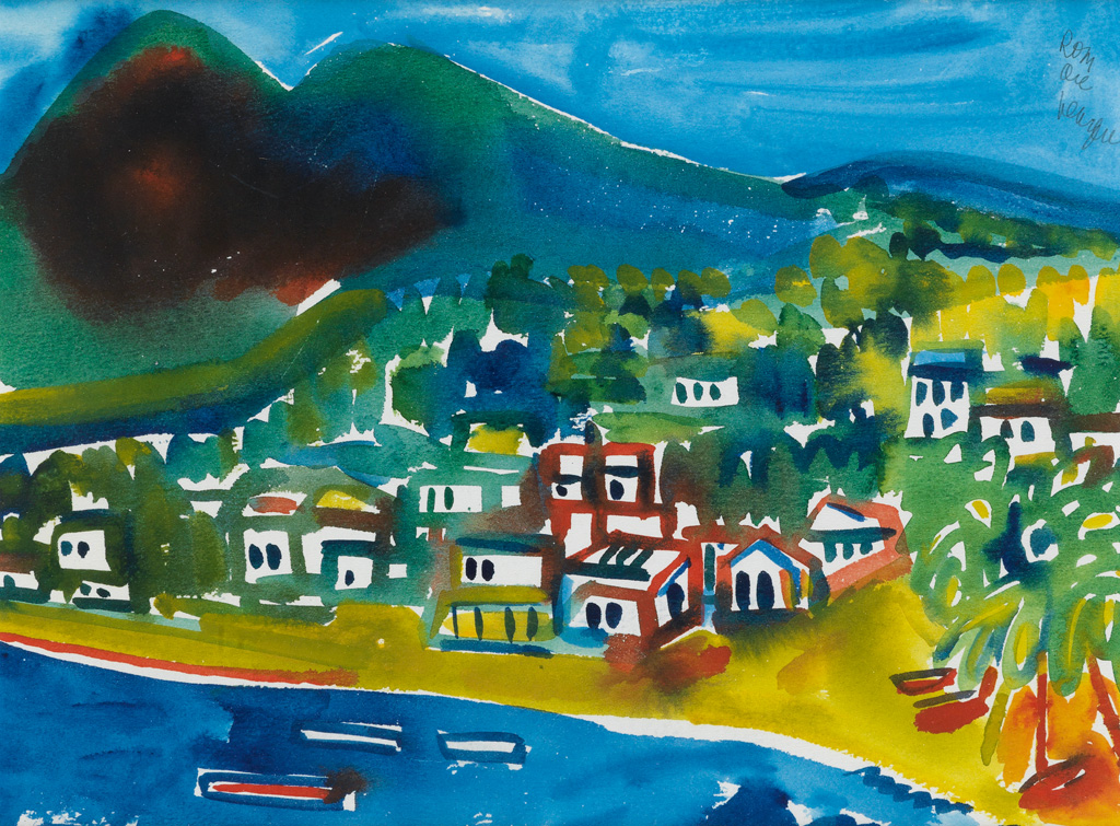 ROMARE BEARDEN (1911 - 1988) Untitled (Caribbean Landscape).