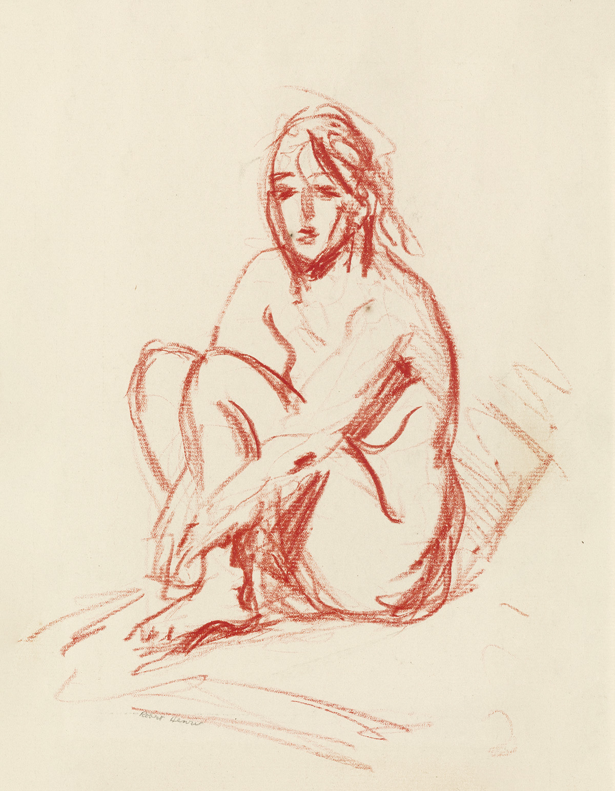 ROBERT-HENRI-Seated-Nude