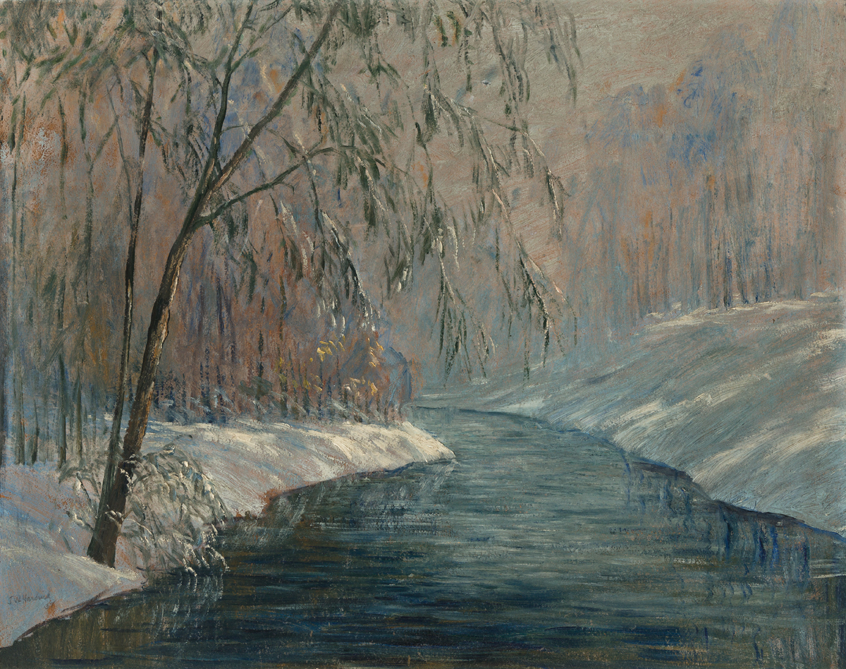 JOHN WESLEY HARDRICK (1891 - 1968) Untitled (Winter Landscape).