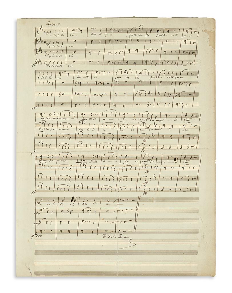 AUBER-DANIEL-FRANÇOIS-ESPRIT-Autograph-Musical-Manuscript-Si