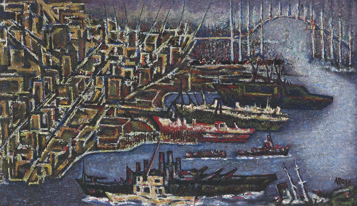 ARTHUR ROSE (1921 - 1995) The Port of Charleston.