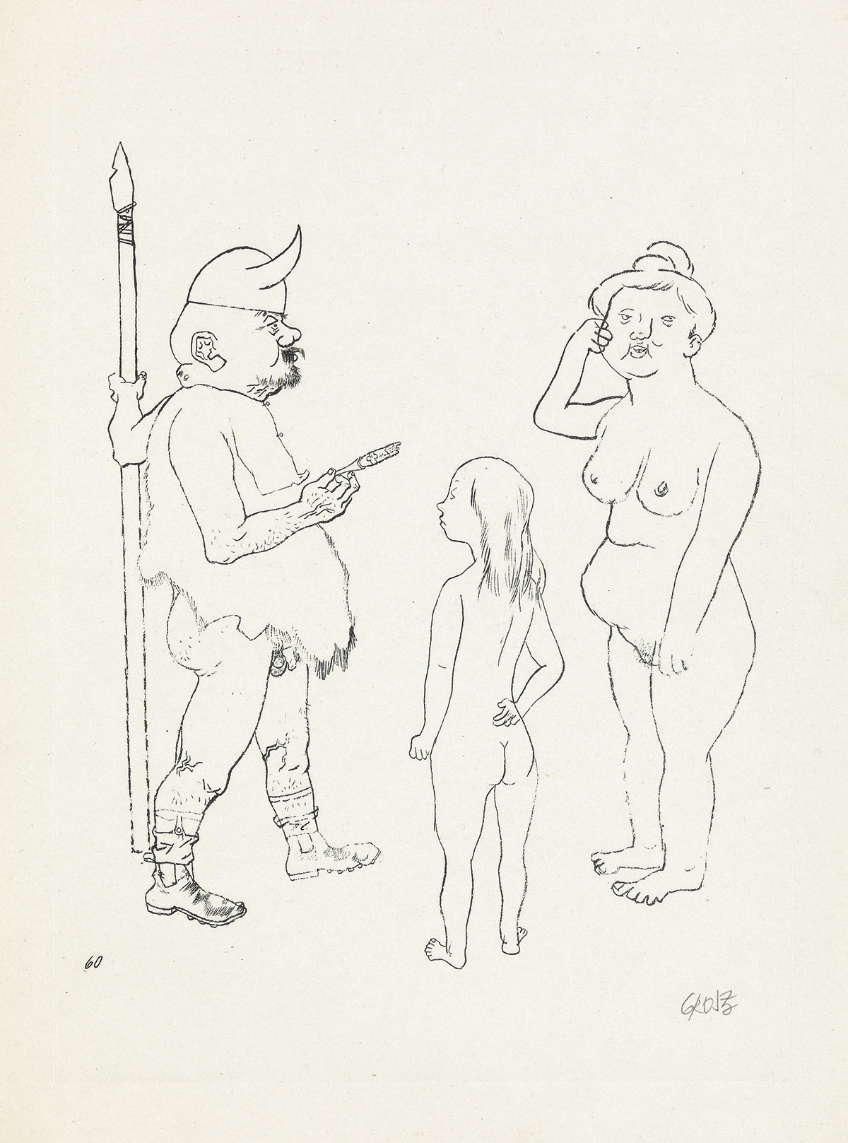 GEORGE-GROSZ-Two-prints-from-Ecce-Homo