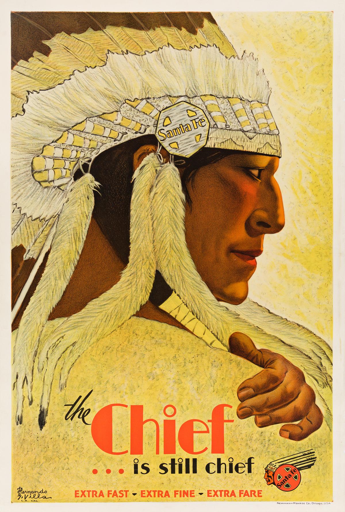Hernando G. Villa (1881-1952).  THE CHIEF . . . IS STILL CHIEF / SANTA FE. 1931.
