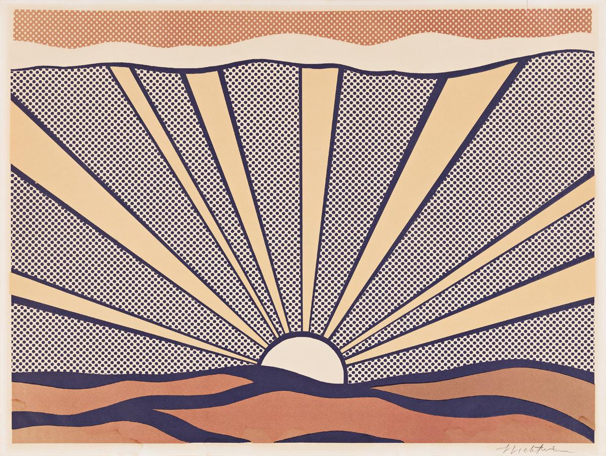 ROY LICHTENSTEIN Sunrise.