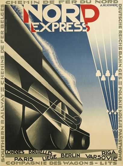 ADOLPHE-MOURON-CASSANDRE-(1901-1968)-NORD-EXPRESS-1927-41x29