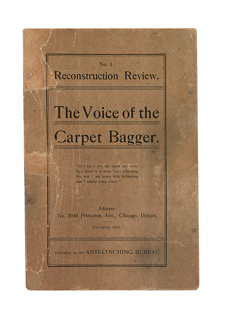 (LYNCHING.) WELLS IDA B[ARNETT]. The Reconstruction Review. Voice of the Carpet Bagger. Volume 1.