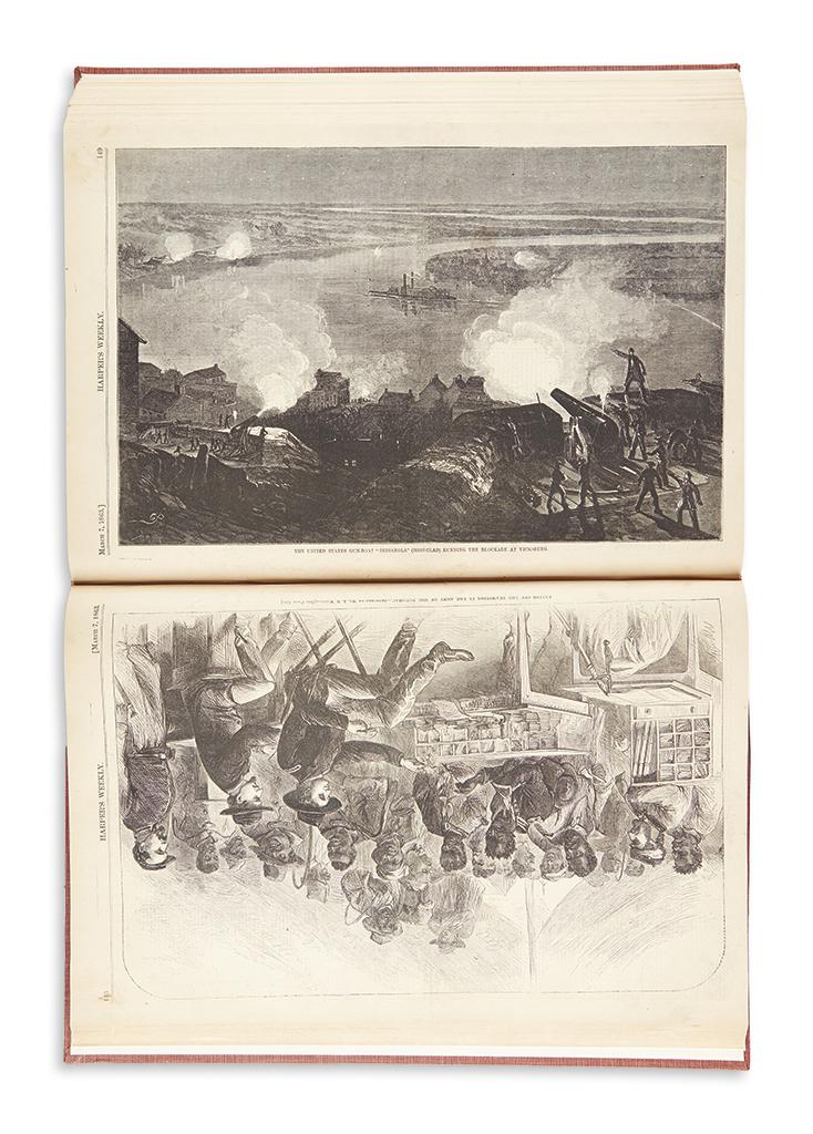 (CIVIL WAR.) Harpers Weekly: A Journal of Civilization.