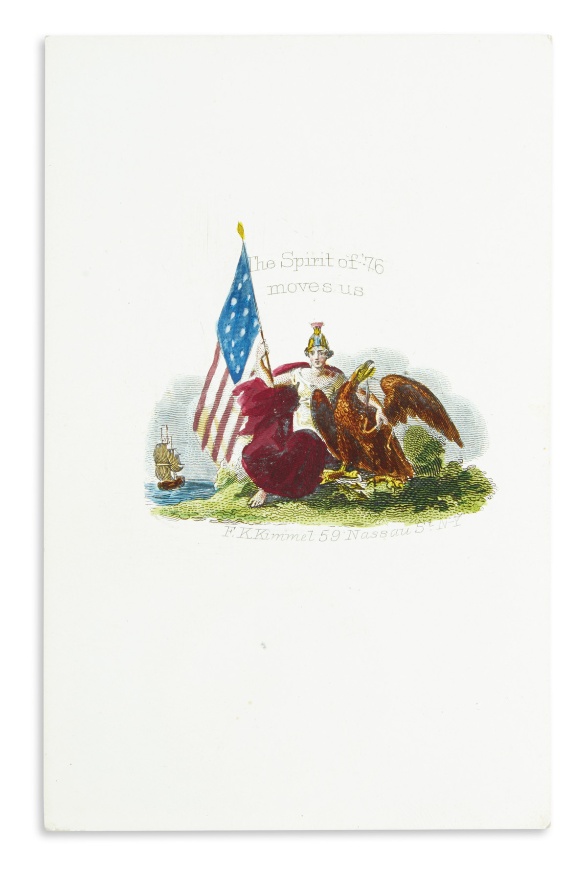 (CIVIL WAR--COVERS.) Group of 20 proof cards for patriotic covers by Kimmel, accompanied by the related covers.