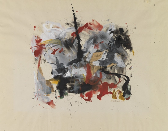 SAM MIDDLETON (1927 -  ) Untitled (Abstract Expressionist Composition).