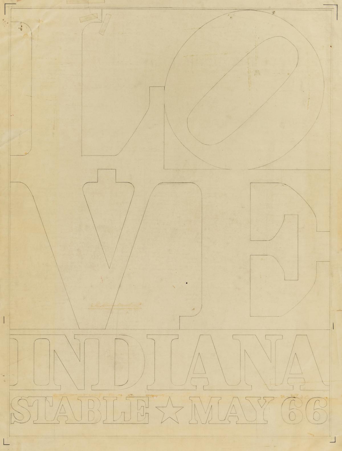 ROBERT INDIANA LOVE, Indiana Stable May 66.