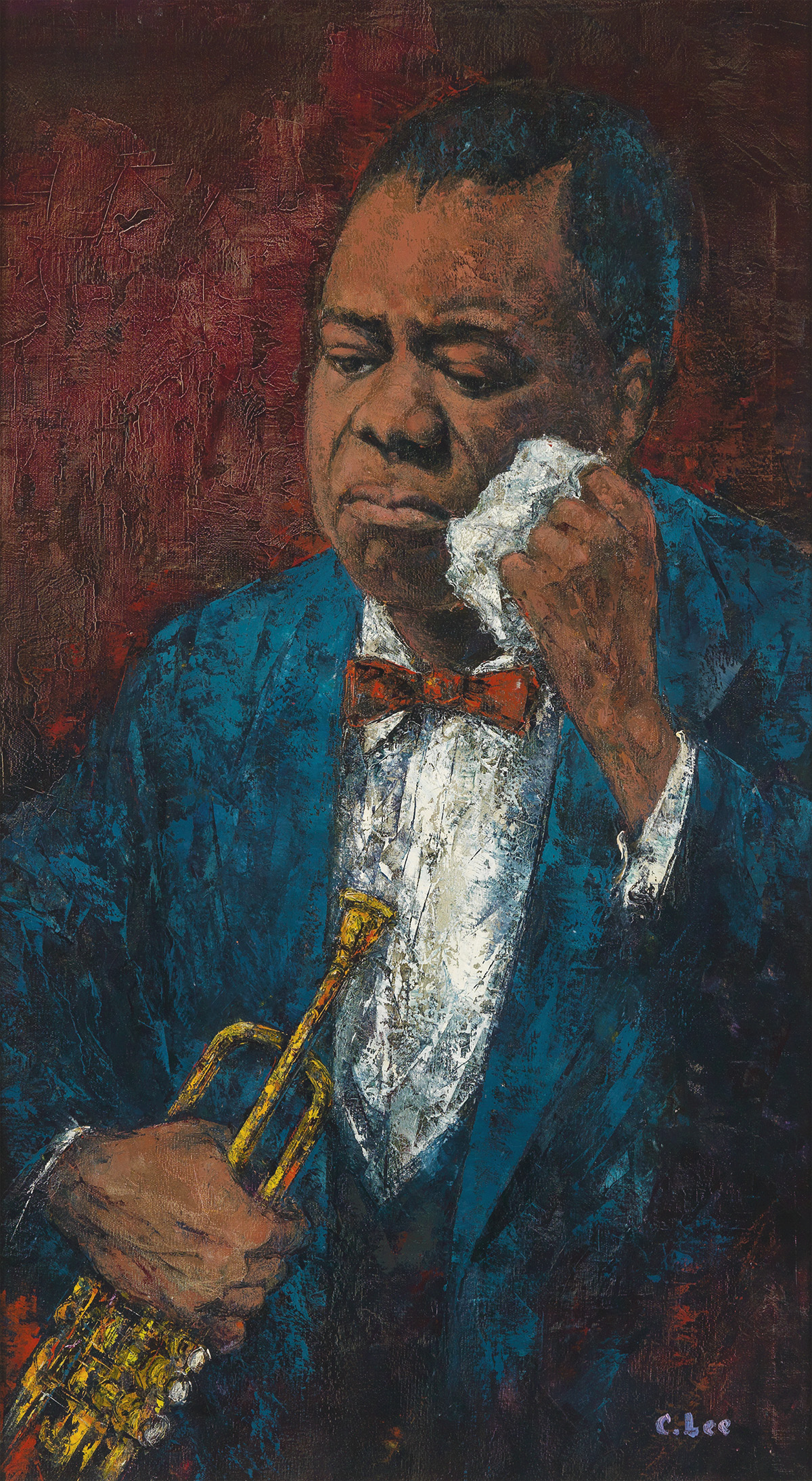 CLIFFORD L. LEE (1926 - 1985) Louis Armstrong.