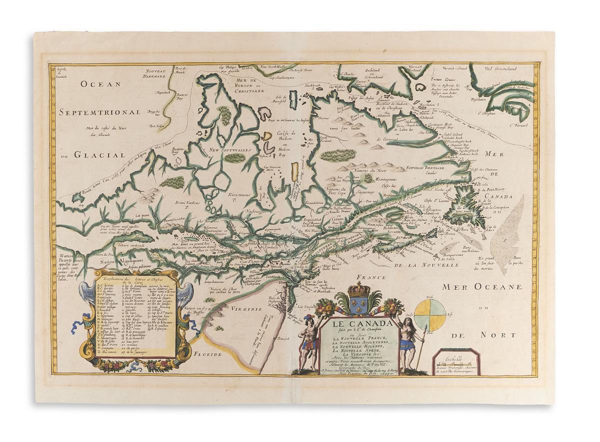 CHAMPLAIN, SAMUEL De.; and DU VAL, PIERRE. Le Canada Faict par le Sr de Champlain