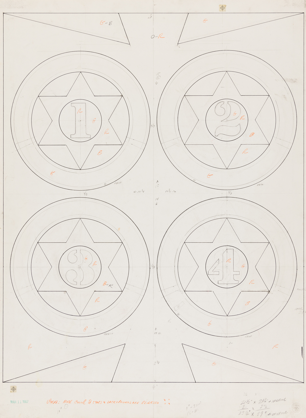 ROBERT INDIANA Purim: The Four Facets of Esther.