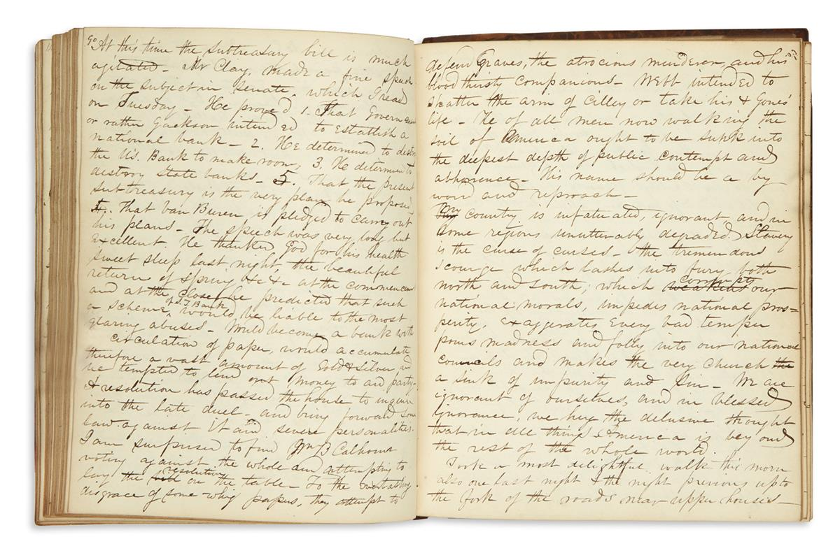 (CONNECTICUT.) Chase, Daniel Henry. Diaries and essays by the first graduate of Wesleyan University.