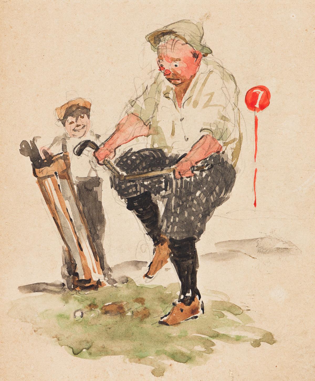 ANGUS PETER MacDONALL (1876-1927) Frustration: The Broken Club. [GOLF]