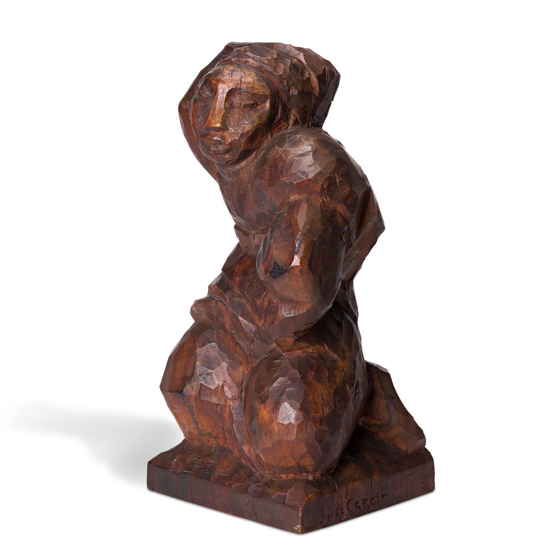 JOSE DE CREEFT (1884-1982) Kneeling Woman.