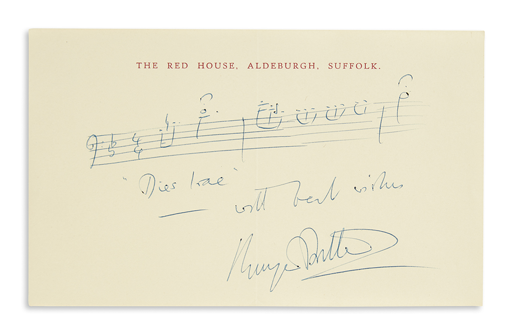 BRITTEN-BENJAMIN-Autograph-Musical-Quotation-Signed-and-Insc